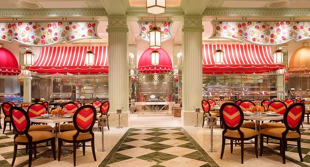 Wynn Buffet interior awnings