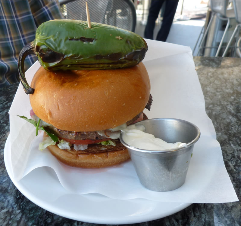 Stripburger Jalapeno Popper Burger