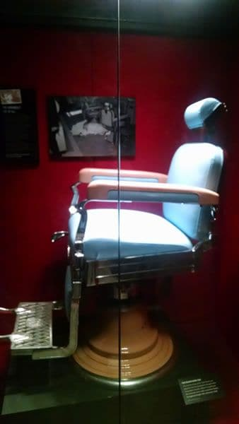 Mob Museum Barber Chair Vegas