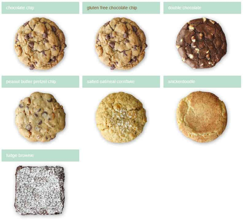 Sprinkles Cookie menu