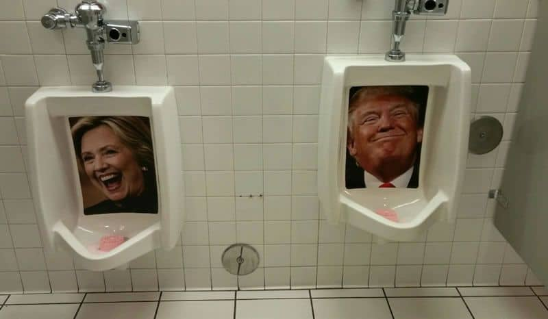 Mens Bathroom at Heart Attack Grill