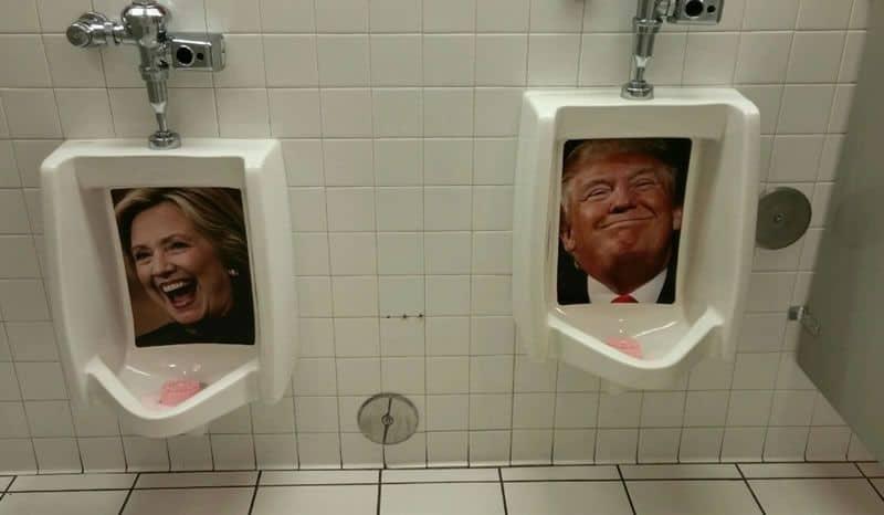 Mens Bathroom at Heart Attack Grill