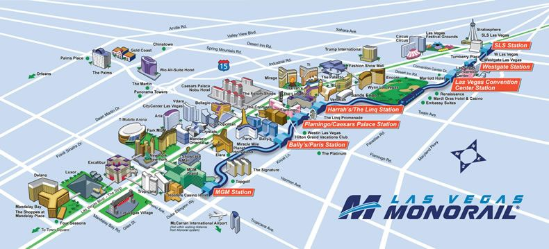 Las Vegas Monorail Map 2018