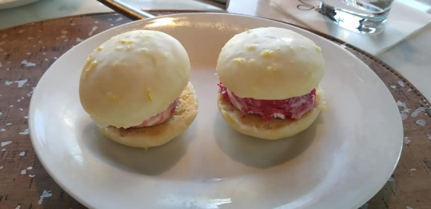 Giada lemon ricotta cookie sandwich raspberry sorbet