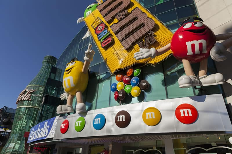 M and m coca cola vegas