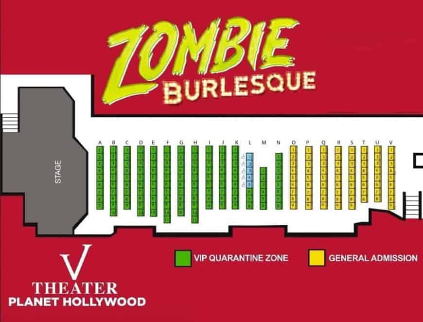 Zombie Burlesque Seating Chart