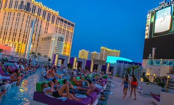 Dive in movies at Cosmopolitan pool