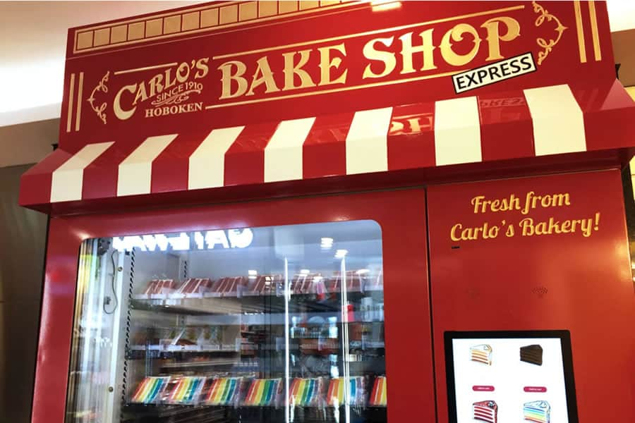 carlos bakery cake vending machine
