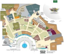 Aria Hotel Map