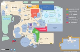 Caesars Palace Hotel Map