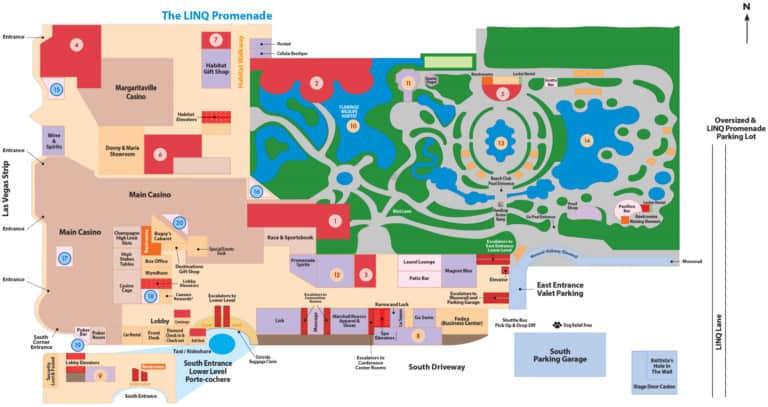 Flamingo Hotel Map
