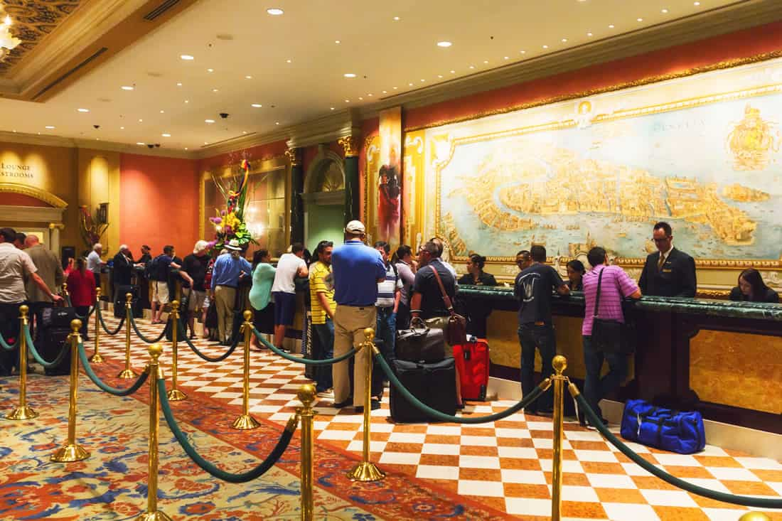Las Vegas hotel check in and check out
