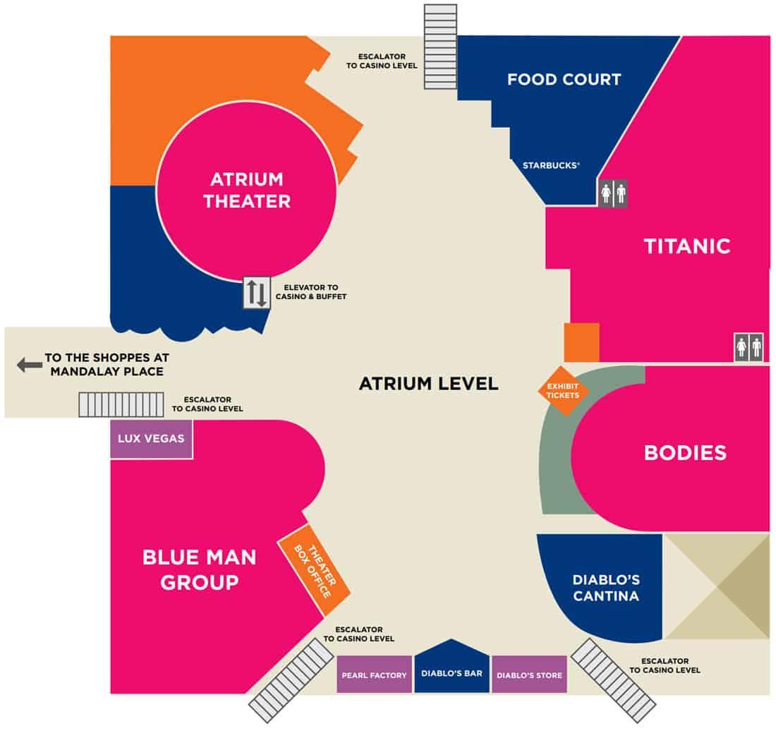 Luxor Hotel Map Atrium