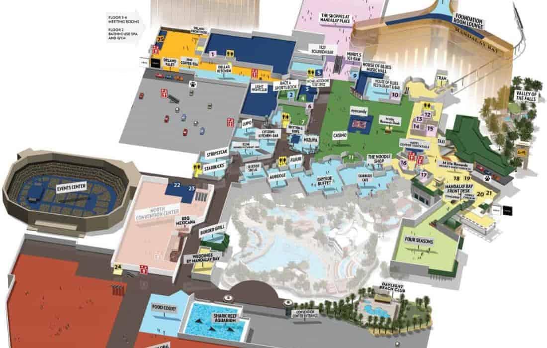 Mandalay Bay Hotel Map
