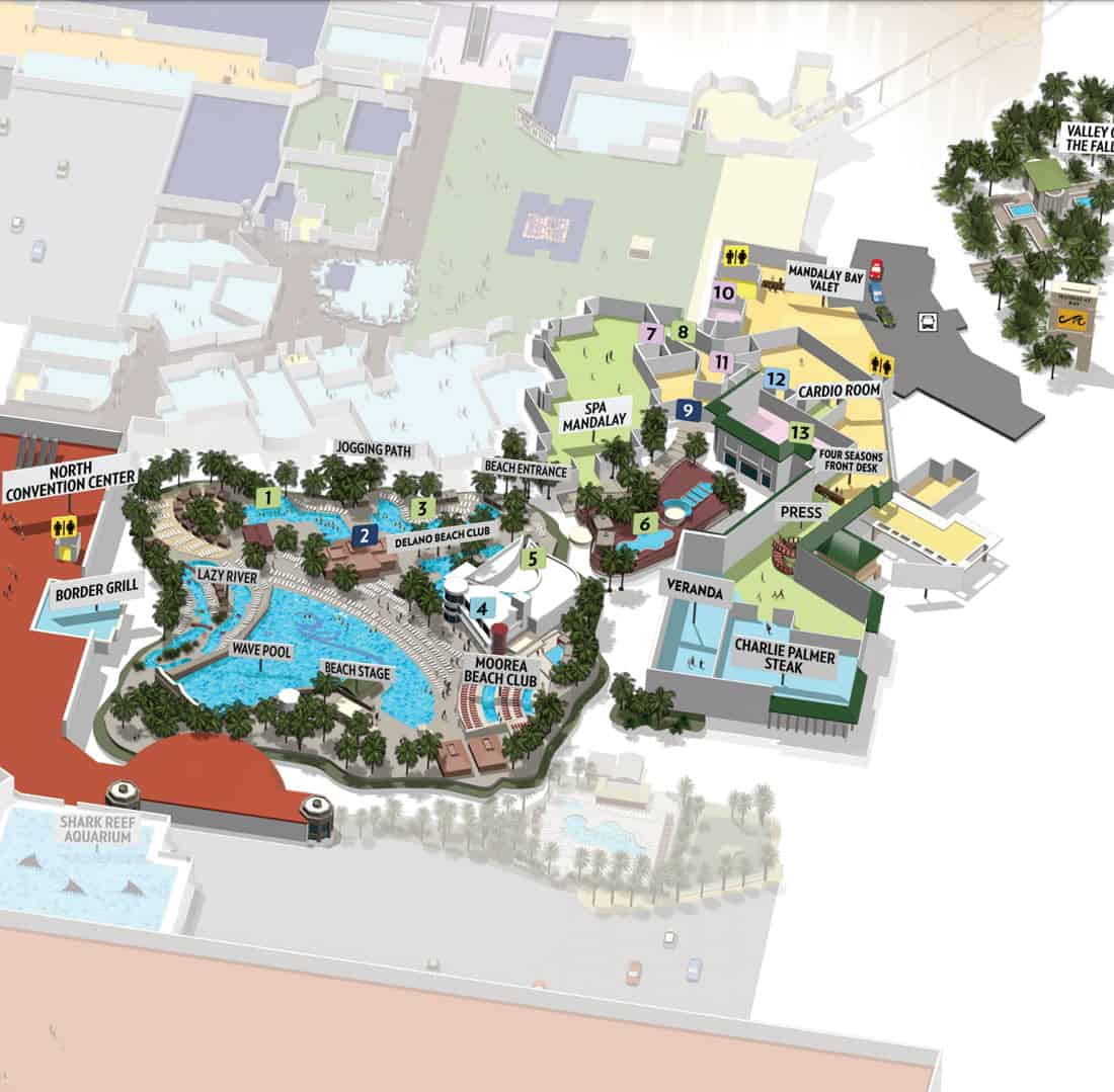 Mandalay Bay Hotel Map Resort Map