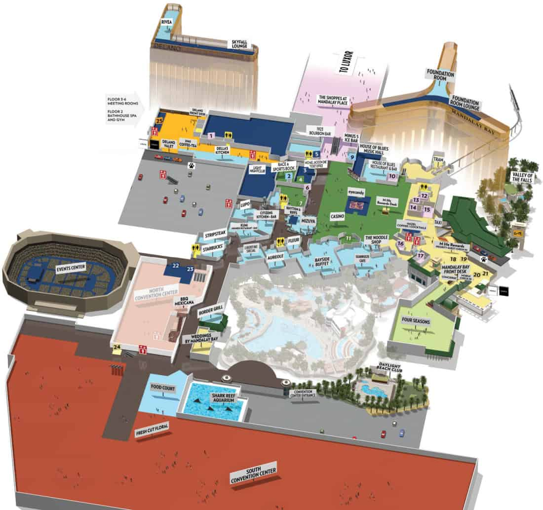 Mandalay Bay Hotel Map