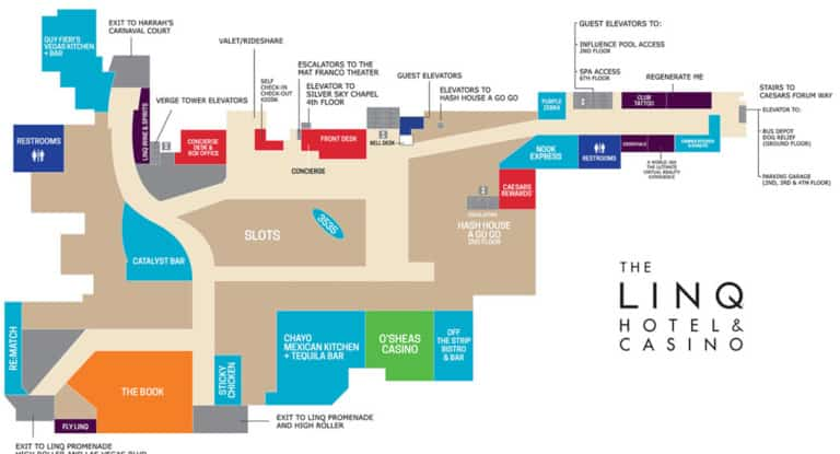 The Linq Hotel Map Level 1