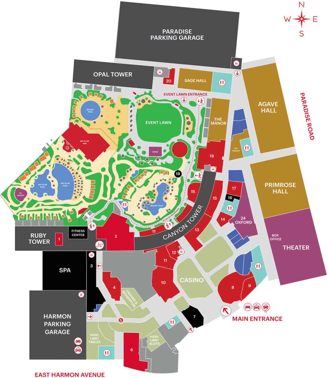 Virgin Hotel Map