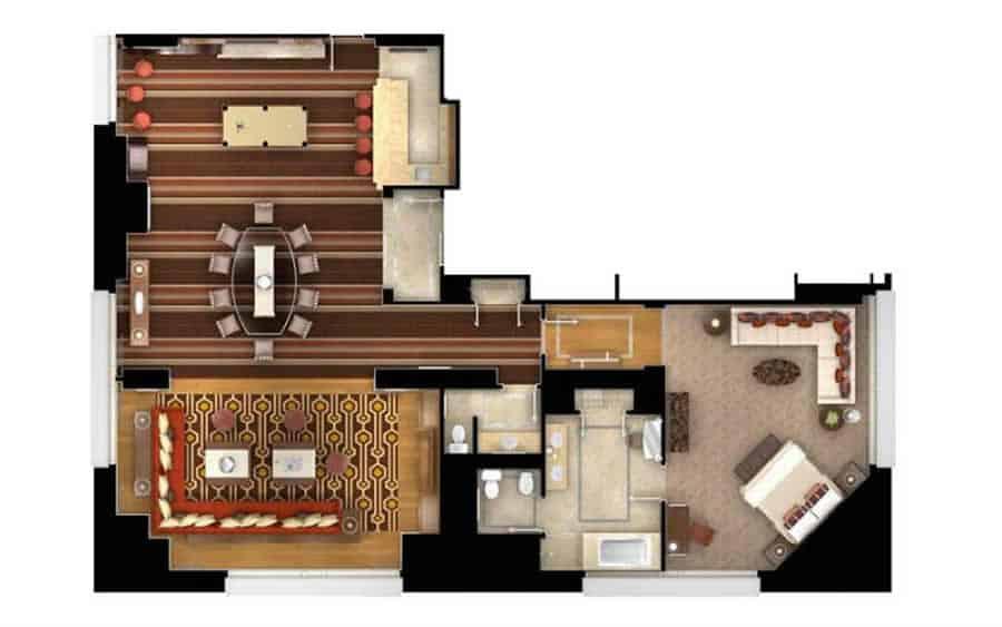 Bellagio Parlor Suite Floor Plan