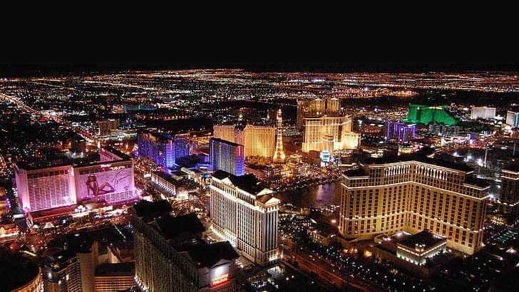 Aerial View of Las Vegas Boulevard