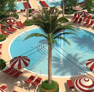 Resorts World Las Vegas's pool complex