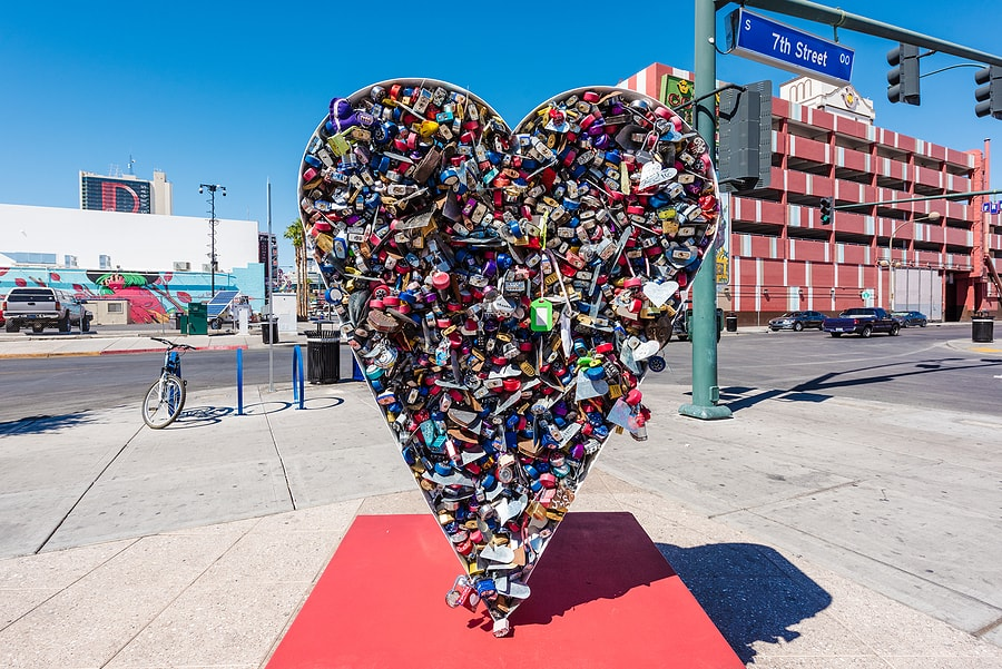 Love Sculpture at the Fremont Street Experience