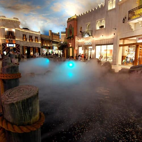Skip the Umbrella with Indoor Rain at the Miracle Mile Shops