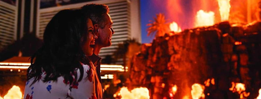 Watch a Volcano Erupt at the Mirage