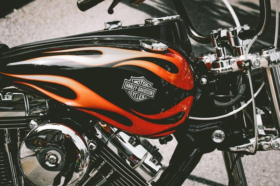 Take a Photo on a Harley