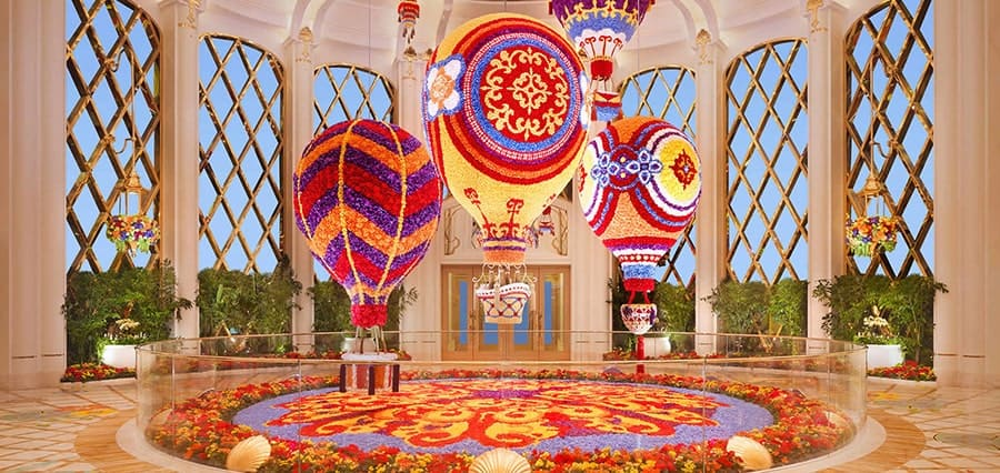 Smell the Roses at the Wynn Floral Atrium