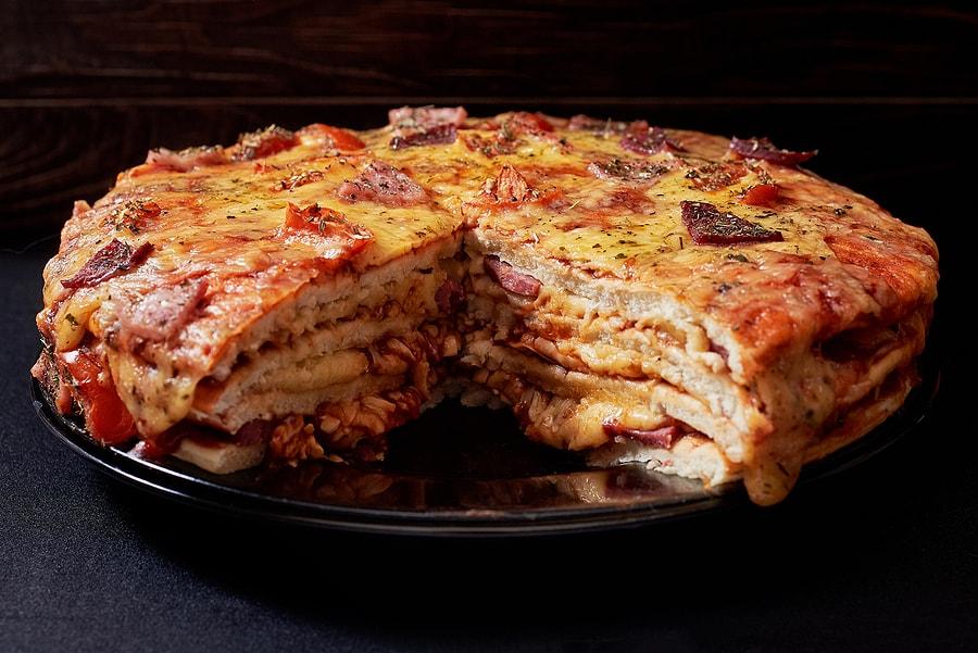 Pizza Cake Menu