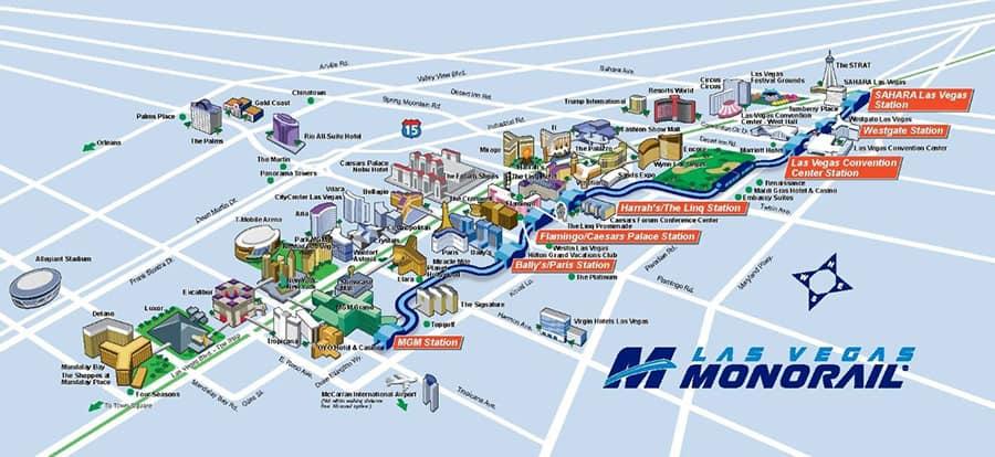 Las Vegas Tram Map